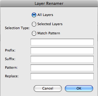 Layer Renamer UI Screenshot